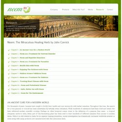 Neem Research - Neem America has the largest selected of articles on neem, clinical studies, findings, published papers, reports, working papers