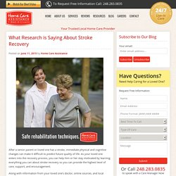 Research About Senior Stroke Recovery