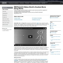 2013-05-01 IBM Research Makes World's Smallest Movie Using Atoms