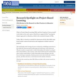 Research Spotlight on Project-Based Learning