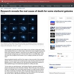 Research reveals the real cause of death for some starburst galaxies