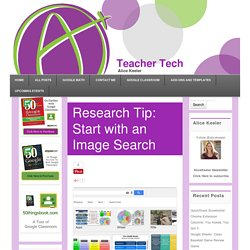 Research Tip: Start with an Image Search - Teacher Tech