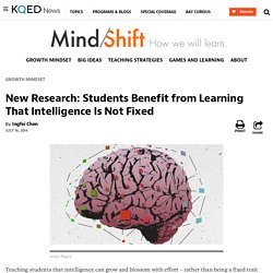 New Research: Students Benefit from Learning That Intelligence Is Not Fixed