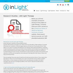 Research Studies - LED Light Therapy - InLight Medical