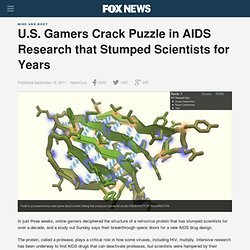U.S. Gamers Crack Puzzle In AIDS Research That Stumped Scientists For Years