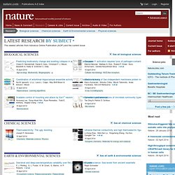 Advance online publication : Nature