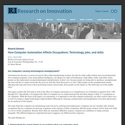 Research Summary - Research on Innovation
