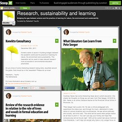 Research, sustainability and learning