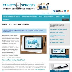 Stage 3 Research on the Use of Tablets in Schools and Education