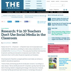 Research: 9 in 10 Teachers Don't Use Social Media in the Classroom