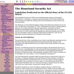 The Homeland Security Act