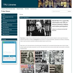 Fake News Quiz - Fake News - Research Guides at Thompson Rivers University Library