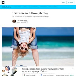 User research through play - UX Collective