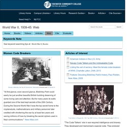 Web - World War II, 1939-45 - Research Guides at Tidewater Community College
