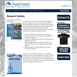 Research Toolkits | DataCenter