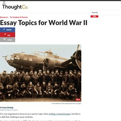World War II Research Topics for Homework Essays