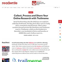 Collect, Process and Share Your Online Research with Trailmeme