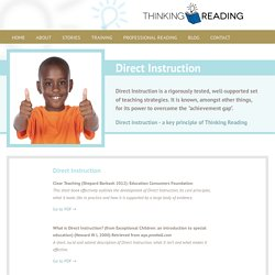 Research Based Training - Proven Impact - Thinking Reading