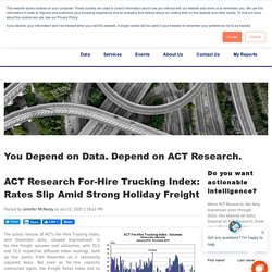 ACT For-Hire Trucking Index