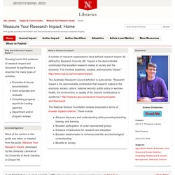 Home - Measure Your Research Impact - Subject & Course Guides at University of Nebraska - Lincoln