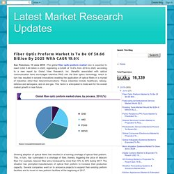 Latest Market Research Updates: Fiber Optic Preform Market Is To Be Of $8.66 Billion By 2025 With CAGR 19.6%