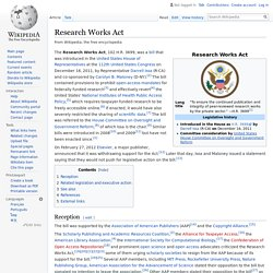 Research Works Act - Wikipedia