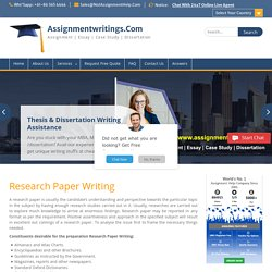 Research Paper Writing – Best Researchers at Low Price