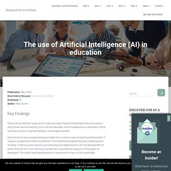 The use of Artificial Intelligence (AI) in education – Research4Committees