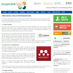 Research4LifeFree Digital Tools for Researchers