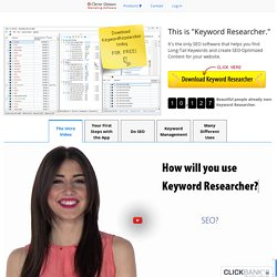 Keyword Researcher: A Long Tail Keywords Generator Tool