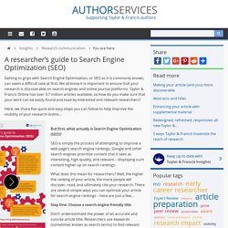 Author Services A researcher's guide to Search Engine Optimization (SEO)