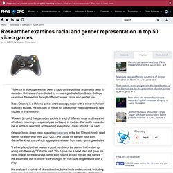 Researcher examines racial and gender representation in top 50 video games