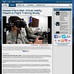 Researchers test virtual reality Adaptive Flight Training Study