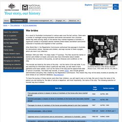 A–Z for researchers – National Archives of Australia, Australian Government