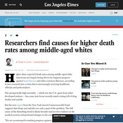 Researchers find causes for higher death rates among middle-aged whites
