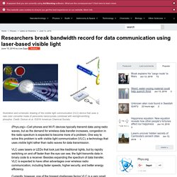 Researchers break bandwidth record for data communication using laser-based visible light