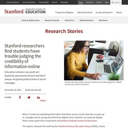 Stanford researchers find students have trouble judging the credibility of information online