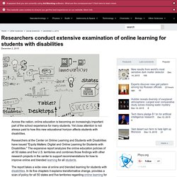 Researchers conduct extensive examination of online learning for students with disabilities