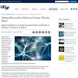 Autism Researchers Discover Genetic 'Rosetta Stone'