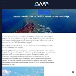 Researchers discover a 1.7 million year old man-made bridge