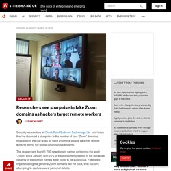 Researchers see sharp rise in fake Zoom domains as hackers target remote workers