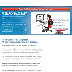Search Real Fast - Helping researchers dramatically speed up their technology and prior art research efforts