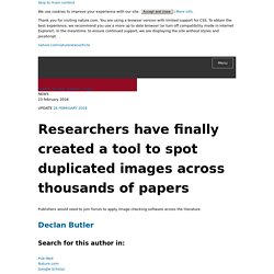 Researchers have finally created a tool to spot duplicated images across thousands of papers