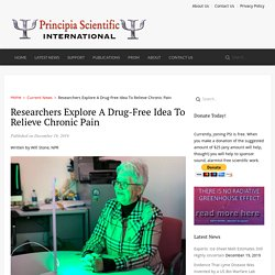 Researchers Explore A Drug-Free Idea To Relieve Chronic Pain