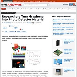 Researchers Turn Graphene into Photo Detector Material