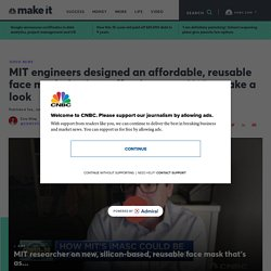 MIT researchers designed reusable N95 face mask for healthcare workers