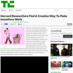 Harvard Researchers Find A Creative Way To Make Incentives Work