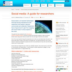 Social media: A guide for researchers