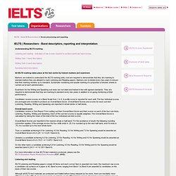 Researchers - Band descriptors, reporting and interpretation