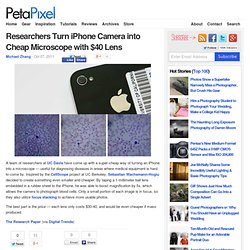 Researchers Turn iPhone Camera into Cheap Microscope with $40 Lens